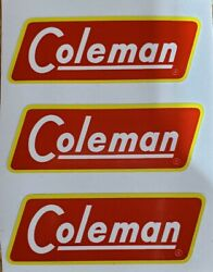 THREE 3 NEW COLEMAN REPLACEMENT STICKERS DECALS LANTERNS STOVES 1951 1958 $4.77
