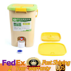 21L Kitchen Food Waste Bokashi Bucket Recycle Composter Aerated Compost Bin $63.94