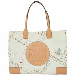 TORY BURCH Ella Large Canvas Floral Tote #AFTERNOON TEA 70501 Casual Travel Bag $169.90