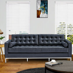 Modern Living Room SofaTufted Leather Cushion 1 Seater 3 Seater Couch Armchair $1140.00