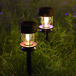 Solar Lanterns Outdoor Hanging with Shepherd Hooks Solar Lights Outdoor with Sta $24.99