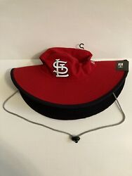 St.Louis Cardinals MLB New Era Bucket Hat Red W Drawstring Adult One Size Fits $25.99