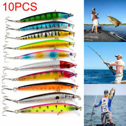 10pc Savage Gear Saltwater Lures Bass Wrasse Cod Pollock Sea Fishing Tackle Gear $4.99