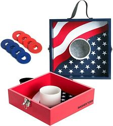 Wooden Washer Toss Game for Adult Lawn Games Washer Board Game Outdoor Games 8 $54.00