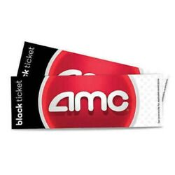 AMC Black Movie Theater Ticket Voucher Message Delivery Only No Expiration $7.99