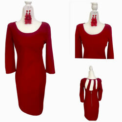 Bisou Bisou Red Cocktail Dress Earrings Included $25.00