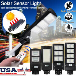 14000LM Solar LED Street Light Commercial Outdoor IP65 Area Security Road Lamp