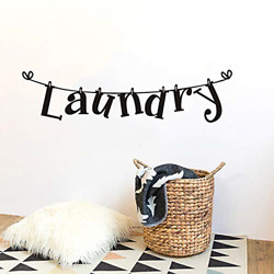 Laundry Room Wall Decals DIY Vinyl Laundry Lettering Stickers for Laundry Room $11.55