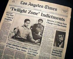 Best TWILIGHT ZONE: THE MOVIE John Landis re. Helicopter Accident 1983 Newspaper $52.00