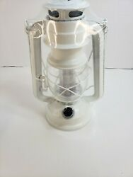 Vintage Style Hurricane Lantern with 12 LED#x27;s Battery operated White camping $28.79