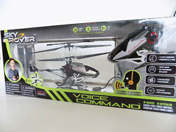BRAND NEW Sky Rover RC Helicopter Toy w. Voice Command Auto Pilot Smart Hover $25.00