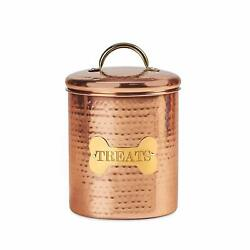King Charles Copper Dog Medium Canister quot;Treatsquot; Label for Pet Food Copper Gold $19.99