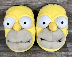 Homer Simpson The Simpsons Mens Slippers Plush Novelty Size 9 10 $22.99