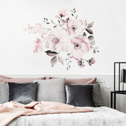 Lovel Flowers Wall Decals Self Adhesive Mural Wall Stickers Home Decoration PVC $8.09
