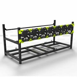 Aluminum Stackable Open Air Mining Computer Frame Rig Ethereum Veddha 8GPU $298.99