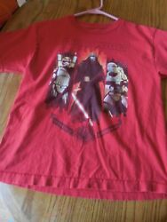 Boys Star Wars red t shirt M 10 12 Star Wars First Order good preowned $3.99