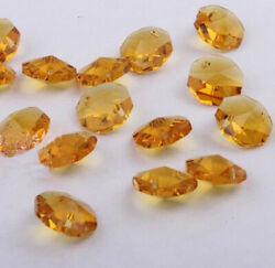 20pcs 14mm gold Crystal Octagonal beads Decoration Crystal chandelier parts #01 $2.00