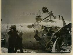 1957 Press Photo Aftermath of United States Air Force Helicopter Crash $15.88