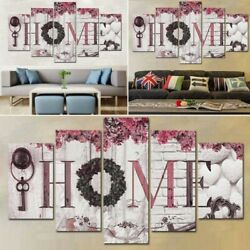 5PCS Concise Fashion Wall Paintings Letter Print Wall Home Decor Painting $10.99