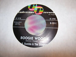 B. BUMBLE amp; THE STINGERS Boogie Woogie 45 RPM 1961 Rock amp; Roll Instro. VG $4.00