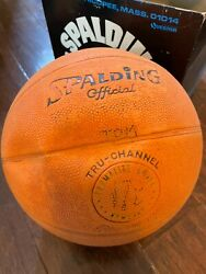 Vintage Spalding Official Basketball AS IS With Box HTF $29.99