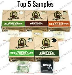 DR SQUATCH Soap Samples 5 TOP SELLER BARS FREE SAME DAY SHIP 12PM TRACK# USA $14.75