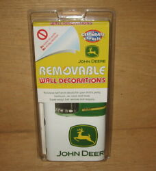 JOHN DEERE Tractors Removable Wall Decorations Self Stick Decals New in Pack $26.95