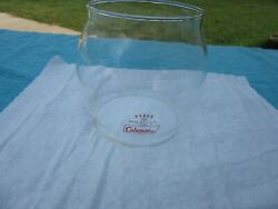 COLEMAN 200A LANTERN GLASS GLOBE RED LETTERS PYREX USA quot;NICE CONDITIONquot; $40.00