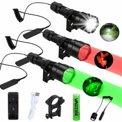 LED Flashlight Gun Mount Hunting Torch Remote Pressure Switch for Photo Camera $16.99