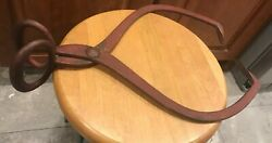 RED ANTIQUE GIFFORD WOOD ICE TONGS LARGE HEAVY 540 20quot; WROUGHT IRON $65.00
