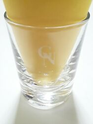 VINTAGE GREAT NORTHERN RR RAILWAY SHORT ETCHED SHOT GLASS CLEAR NO RESERVE $24.95