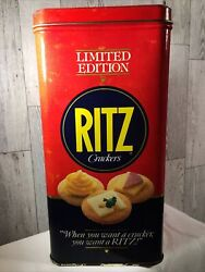 Vintage Ritz Crackers 1987 Limited Edition Advertising Tin Metal Can $14.00