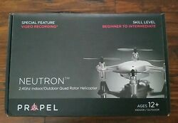 Propel RC Neutron 2.4GHz Indoor Outdoor Quad Rotor Helicopter w Camera Micro SD $5.99