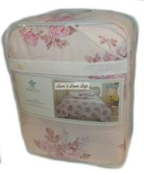 SIMPLY SHABBY CHIC Pink Blush Floral 3PC FULL QUEEN COMFORTER SET NEW COTTON $139.99