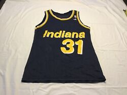 VTG INDIANA PACERS # 31 REGGIE MILLER NBA THROWBACK JERSEY BY CHAMPION SIZE 44 $49.99