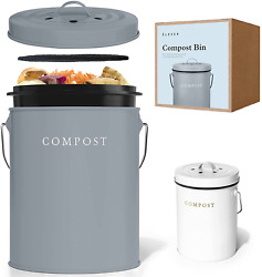 Compost Bin Kitchen Charcoal Filters Stainless Steel Countertop Compost Bin With $37.04