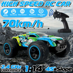1 14 4WD 70km h Electric RC Car Monster Truck Off Remote Control Road Vehicle $36.71