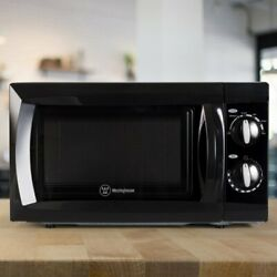 Commercial Chef Countertop Microwave Oven; 0.6 Cubic Feet; Black