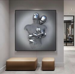 Wall art Romantic metal figure 3D Canvas poster Living Room Home Decor painting $14.99