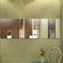 NEW 6Pcs 3D Wall Stickers Mirror Removable Acrylic Art DIY Home Decor Decal USA $6.98