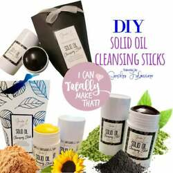 DIY Solid Oil Facial Cleansing Stick Includes Bonus instructions for a Charcoa $9.95