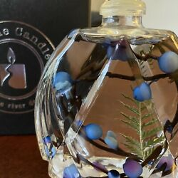 Lifetime Candle White River Design: Blue New With Gift Box $7.99