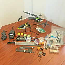 LOT of 2 Exceed RC Helicopters Falcon Raptor w Accessories FOR PARTS NOT TESTED $134.91