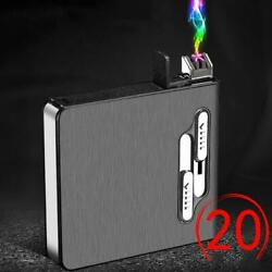 Metal Cigarette Case with Lighter Electric Waterproof Rechargeable Tobacco Box $15.99