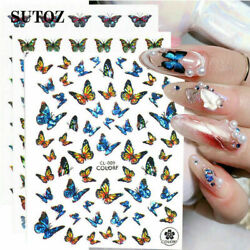 Nail Stickers Butterfly Flower Nail Art DIY Waterproof Adhesive Transfer Decal C $0.99