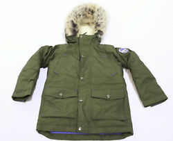 Lands#x27; End Kids Expedition Down Winter Parka CL8 Mossy Bark Small US:8 NWT $79.99