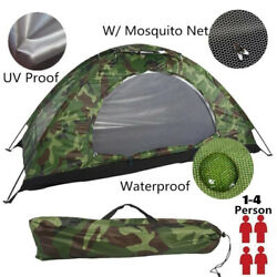 2 4 Person Portable Outdoor Camping Tents Waterproof Folding Tent Beach Hiking $19.09