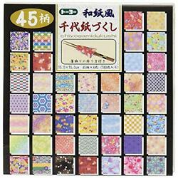 Toyo Japanese paper Chiyogami 15 cm square 018053 45 pattern 180 pieces F S NEW $35.02