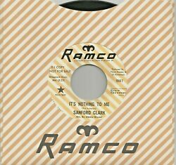 New 2021 pressing: SANFORD CLARK quot;It#x27;s Nothing To Mequot; b w quot;The Foolquot; Ramco 45 $12.99