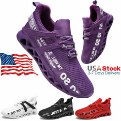Fashion Running Women#x27;s Comfortable Sneakers Walking Tennis Shoes Gym JUST SO SO $29.98